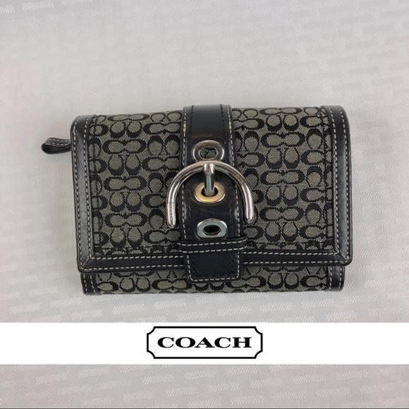 Coach Handbags - Coach Signature Trifold Wallet